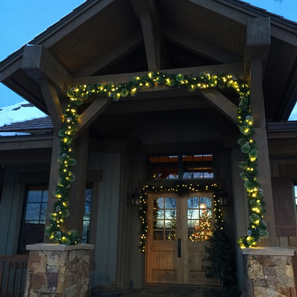 Wreath And Garland Lighted Garland Floral Centerpeice